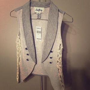 Grey and Lace Vest Daytrip from Buckle S